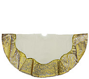 48 Two-Tone Metallic Gold Flourish Tree Skirt by Northlight - H286887