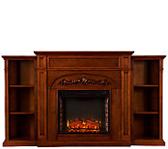 Chantelle Electric Fireplace with Bookcase - H287387