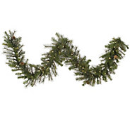 9 Prelit Modesto Pine Garland w/ LED Lights byVickerman - H287687