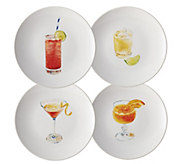 Rachael Ray Cocktails 4-Piece Stoneware Party Plate Set - H288287