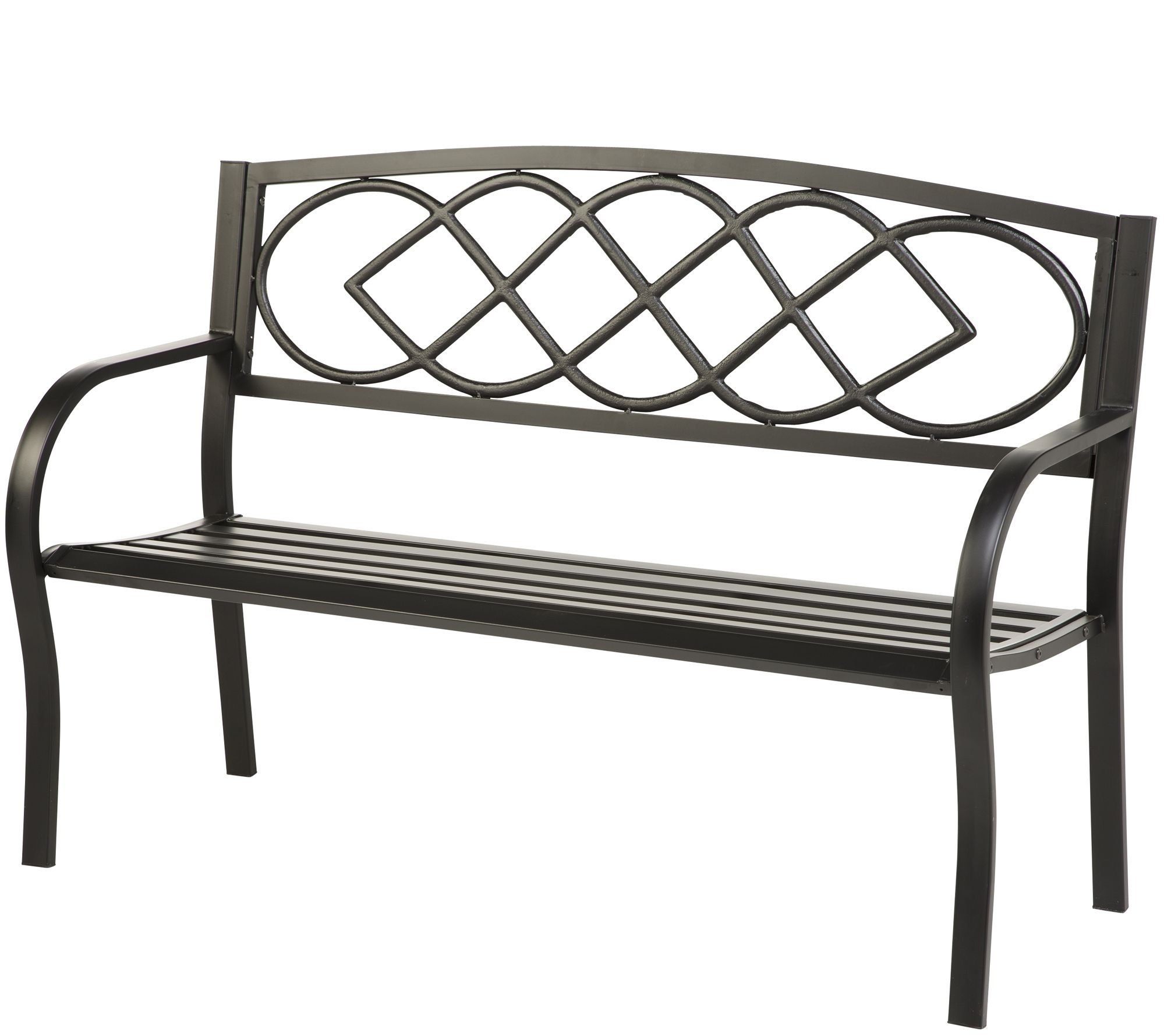 Hearth Bench: Plow & Hearth Celtic Knot Bench