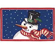 Nourison Enhance 17 x 28Christmas Snowman Rug - H293087