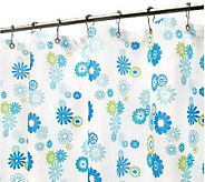 Watershed 2-in-1 Starburst Floral 72x72 ShowerCurtain - H349787