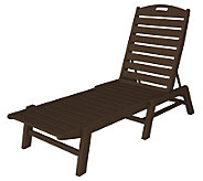 POLYWOOD Nautical Chaise Lounge Without Arms - H349887