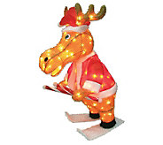 36 Outdoor 140 Light 3D Snowy Soft Skating Moose - H352087