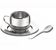 Tramontina 3 Piece Stainless Steel Espresso Set - H69987