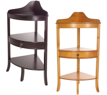 Thomas Pacconi Corner Accent Table With Drawer Qvc Com