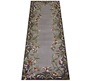 Royal Palace 26 x 8 Lavender Garden Wool Runner - H126288