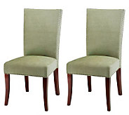 High-Back Cotton and Beechwood Side Chair - Setof 2 - H183588
