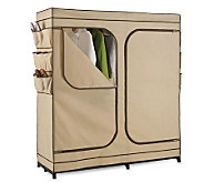 Honey-Can-Do 60 Dbl Door Storage Closet w/ShoeOrganizer - H184088