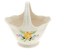 Belleek Yellow Flowered Springtime Basket - H198788