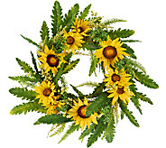 Sunflower, Fern and Berry 22 Wreath by Valerie - H204788
