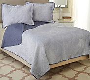 Dennis Basso Rococo King Quilted Micro Mink Coverlet and Sham Set - H206288