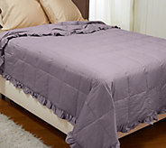 Northern Nights 400TC 550FP All Seasons Ruffle Full Down Blanket - H206988