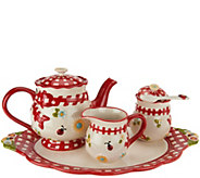 Temp-tations Gingham Garden Tea Set - H207488