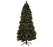 As Is Temp-tations Frosted Spruce LED Tree with Sizing - H208088