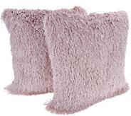 Casa Zeta-Jones Set of 2 Shag Fringe Pillows - H214088