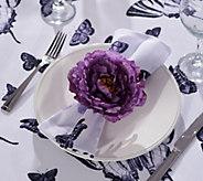 Casa Zeta-Jones Set of 4 Flower Napkin Rings - H215288