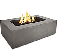 Real Flame Baltic Rectangle Natural GasFire Table - H292288