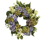 22 Purple Hydrangea Wreath by NearlyNatural - H295588