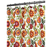 Watershed 2-in-1 Botanical Garden 72x72 ShowerCurtain - H356888