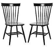 Parker Malaysian Oak Accent Chairs - Set of Two - H361388
