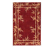 Royal Palace 79 x 96 Bamboo Border Wool Handmade Rug - H146489