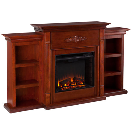 gilmore electric fireplace with bookcases h157889. Black Bedroom Furniture Sets. Home Design Ideas