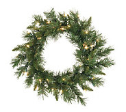 30 Imperial Pine Prelit Wreath by Vickerman -Clear - H171489