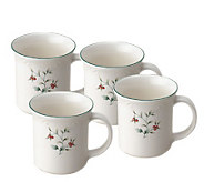 Pfaltzgraff Winterberry Set/4 Coffee Mugs - H184389
