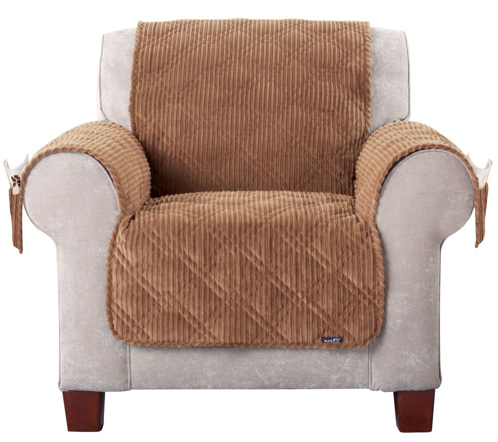 Sure Fit Corduroy Chair Furniture Cover   Page 1 U2014 QVC.com Part 35