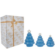 Temp-tations Set of 3 Porcelain Tree Luminaries with Gift Box