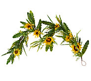 Sunflower, Fern and Berry 5 Garland by Valerie - H204789
