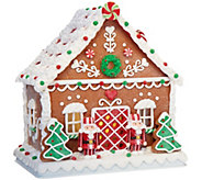 Choice of 9 Illuminated Gingerbread House by Valerie - H205289