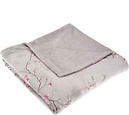 Berkshire Blanket 50x70 Cherry Blossom Embroidery Luxe Throw - H205589