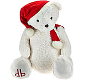 Dennis Basso 29 Jumbo Cuddly Teddy Bear with Santa Hat - H205789