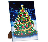 Mr. Christmas Interactive Lit Holiday Wall Art with 12 Songs & Easel - H208789