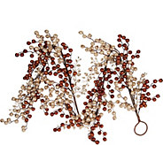 As Is 5 Glitter Berry Garland by Valerie - H210489