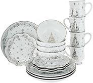 As Is Temp- tations 16 pc. Dinnerware Set Choice, Winter Christmas Eve - H211089