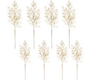 Set of 8 23 Glittered Berry Branch Picks by Valerie - H212589