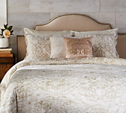 Casa Zeta-Jones Velvet Damask Reversible QN Comforter Set w/ Pillows - H213489