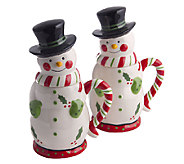Temp-tations Set of 2 24-oz Snowman Mugs with Gift Boxes - H284189