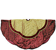 60 Gold Sequined Tree Skirt with Scalloped Trim by Northlight - H286889