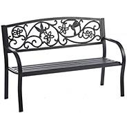 Plow & Hearth Hummingbird Metal Garden Bench - H289389