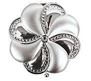 Silvertone Brass Swarovski Crystal Mirror Compact - H348989