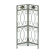 Pewter Bathroom Corner Rack - H155590