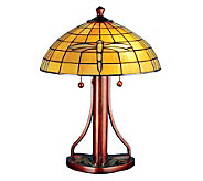 Tiffany Style 22H Arts and Crafts Dragonfly Table Lamp - H181290