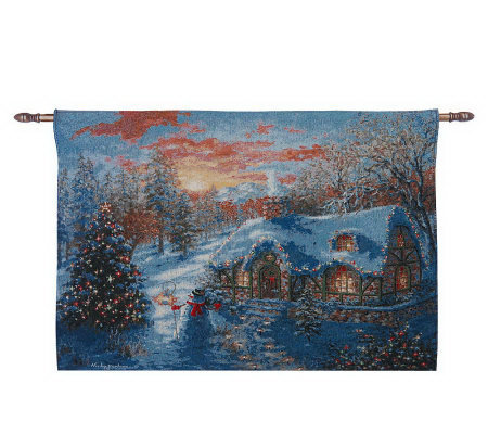 Christmas Scene 36 Quot X 26 Quot Fiberoptic Wall Tapestry With