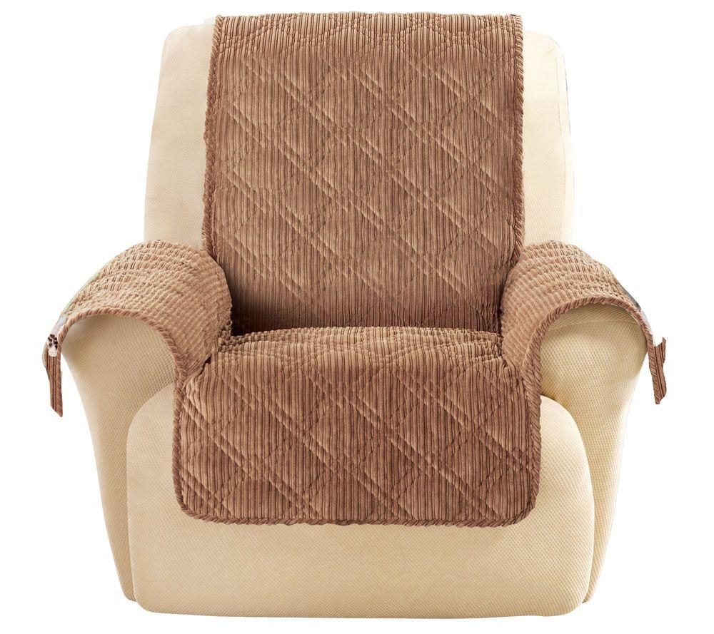 sc 1 st  QVC.com & Sure Fit Corduroy Recliner Furniture Cover - Page 1 u2014 QVC.com islam-shia.org