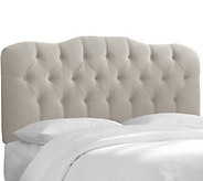 Queen Tufted Headboard in Velvet by Valerie - H284690